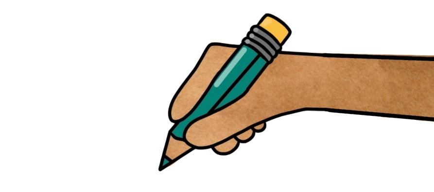 Leer handen tekenen op flip-overs
