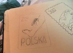 Postzegel vakantie